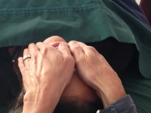 Reiki hand position over eyes